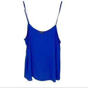 Topshop Blue Blouse Tank Top Shirt Size 6